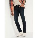 Skinny Built-In Flex Dark-Wash Jeans for Men