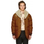 Brown Down Puffer Jacket