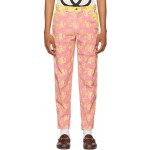 Pink & Yellow Printed Trousers