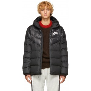 Black Down Windrunner Jacket
