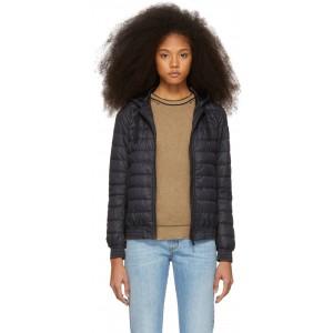 Black 'Black Label' Down Richmond Hoodie Jacket