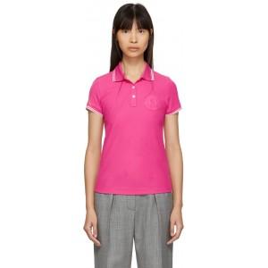Pink Logo Polo