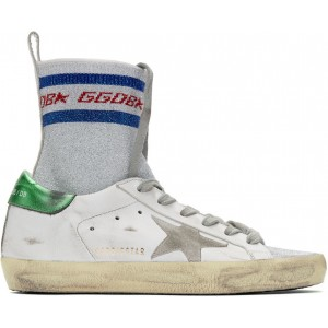 White Superstar Sock High-Top Sneakers