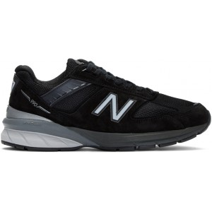Black & Silver US Made 990 v5 Sneakers