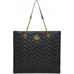 Black Large GG Marmont 2.0 Tote
