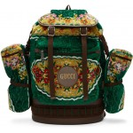 Green Oversized Tapestry Backpack