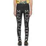 Black 'Memento Mori' Skinny Jeans