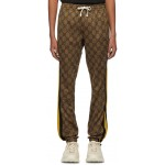 Brown GG Striped Lounge Pants