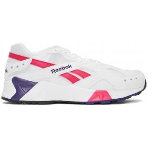 White & Pink Aztrek Sneakers