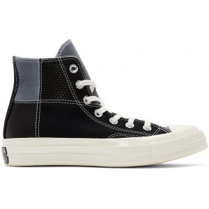 Black Patchwork Chuck 70 High Sneakers