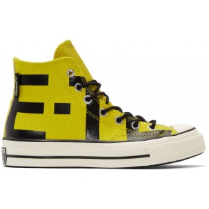 Yellow Leather Chuck 70 High Sneakers