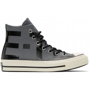 Grey Leather Chuck 70 High Sneakers