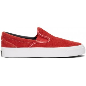Red One Star CC Slip-On Sneakers