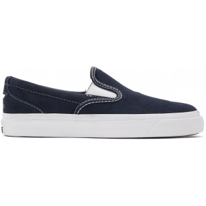 Navy Suede One Star CC Slip-On Sneakers