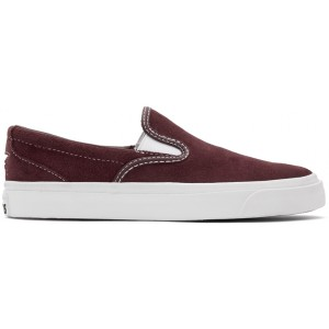 Burgundy Suede One Star CC Slip-On Sneakers