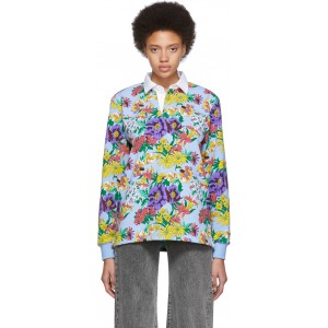 Multicolor Floral Rugby Polo