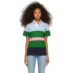 Blue & Green Striped Eddie Polo