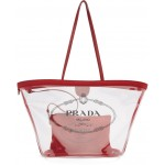 Transparent & Red PVC Tote