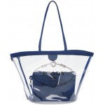 Transparent & Blue PVC Tote
