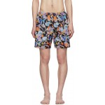 Multicolor Abstract Swim Shorts