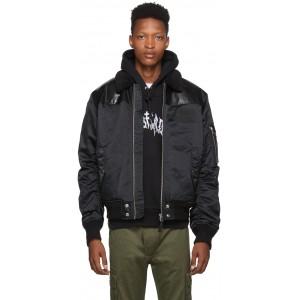Black W-Fedovik Bomber Jacket