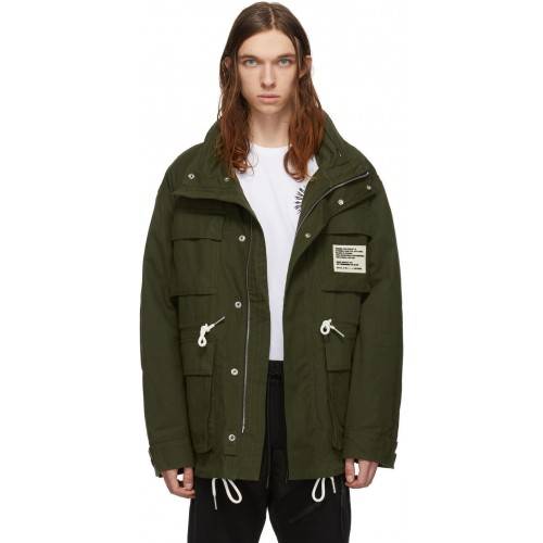 디젤 Green J-Touchin Clean Field Jacket