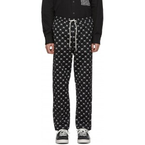 Black P-Toll-Peace Trousers