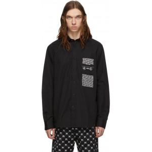 Black Ven-Print Shirt