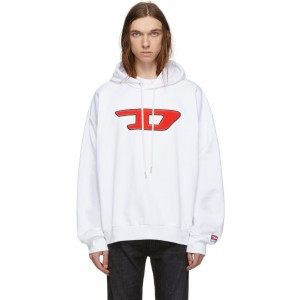 White S-Division-D Hoodie