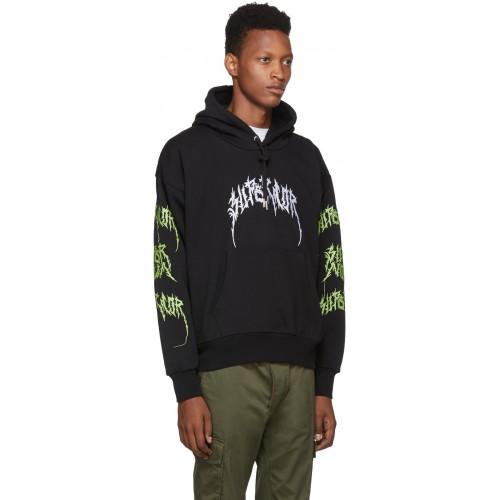 디젤 Black S-Alby-BX3 Embroidery Hoodie