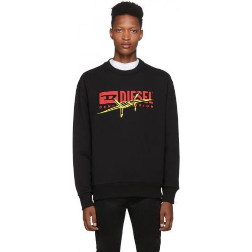 디젤 Black S-Bay-BX5 Sweatshirt