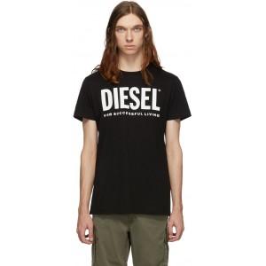 Black T-Diego-Logo T-Shirt