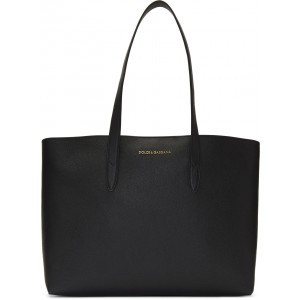Black Dauphine Shopping Tote