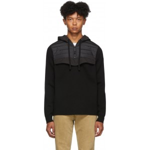 Black Down Hybridge Anorak Sweater