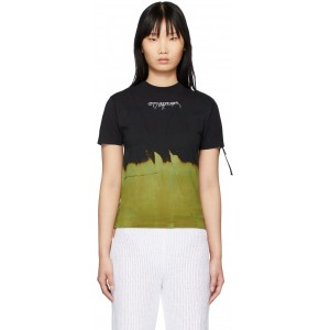 Black & Green Bleached T-Shirt