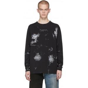 Black & White Painted Long Sleeve T-Shirt