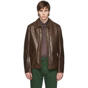 Brown Waxy Buffalo Leather Sunset Jacket