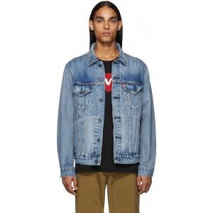 Blue Denim Vintage Fit Trucker Jacket
