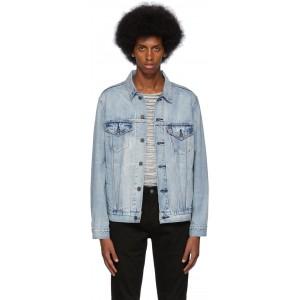 Blue Denim Vintage-Fit Trucker Jacket