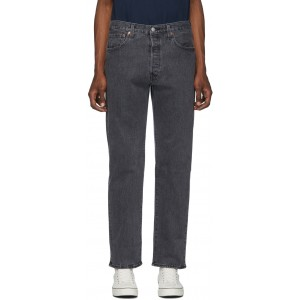 Black 501 93 Straight Jeans