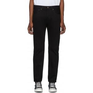 Black 501 Slim Taper Jeans