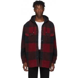 Black & Red Sherpa Jackson Overshirt