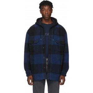 Black & Blue Sherpa Jackson Overshirt
