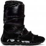 Black Cora Strappy Puffer Boots