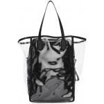 2 Moncler 1952 Transparent & Black Quilted Interior Tote