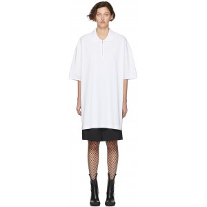 White Oversized Cut-Out Polo