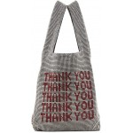 Silver Mini Wangloc 'Thank You' Shopper Tote