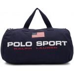 Navy Canvas 'Polo Sport' Duffle Bag