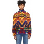 Multicolor Fleece Southwestern Sweater