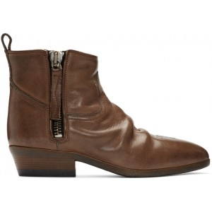 Brown Leather Vian Boots